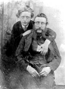 George Hollyer, with his father Joseph